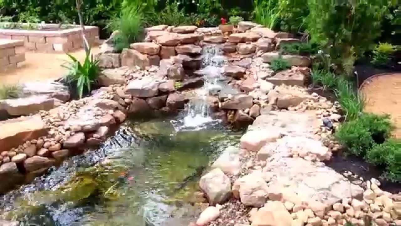Aquaponics hydroponics pond waterfall houston tx youtube for Fish pond hydroponics