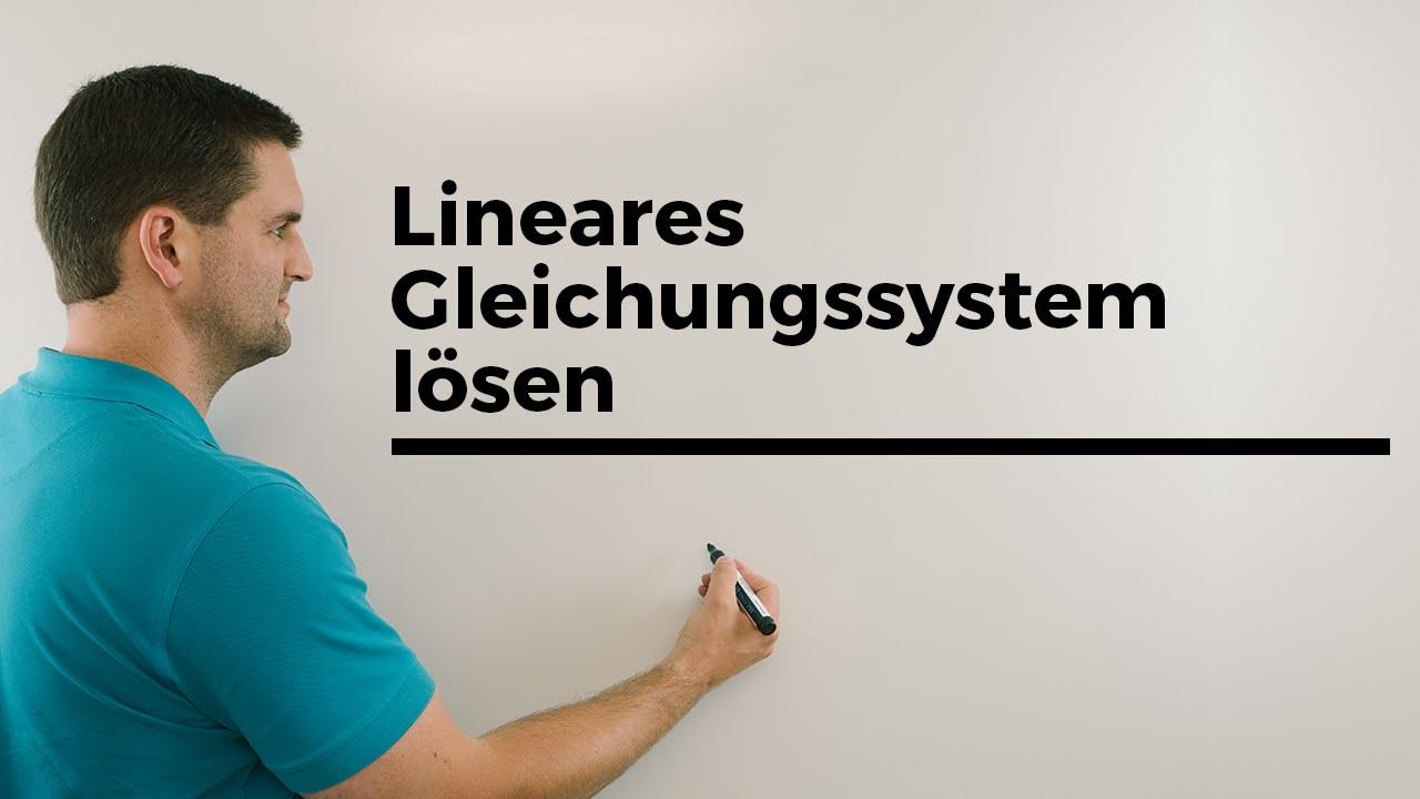 Lineares Gleichungssystem lösen, \