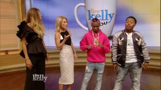 "Hip hop duo Zay teach Kelly and Ciara how to do the ""Juju on The Be..."