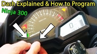 Ninja 300 Dash Lights Explained + How to Program Ninja 300 Dash