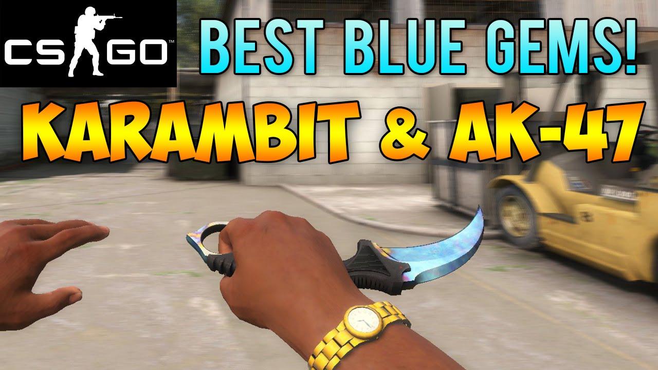 CS GO Skins - Best Case Hardened Blue Gem Patterns! Most Blue AK-47 &  Karambits!
