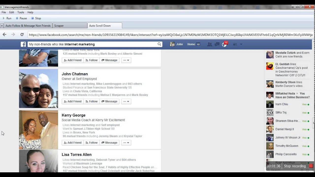 Facebook Auto Message Non friends Based On Graph Search!!Explained