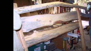 Holdingearthco Beetle Kill Pine Rustic Log Bed