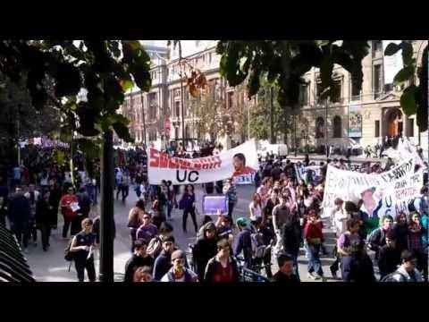Marcha de los 100 mil - Santiago de Chile
