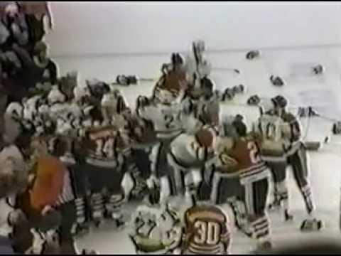 Hawks - North Stars BRAWL 1985