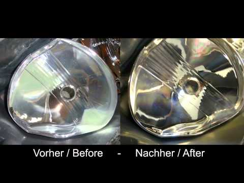 How to restaurate glued headlights, bake, open, polish - ENGLISH