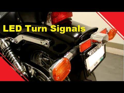 Honda Rebel LED Turn Signal Install - YouTube