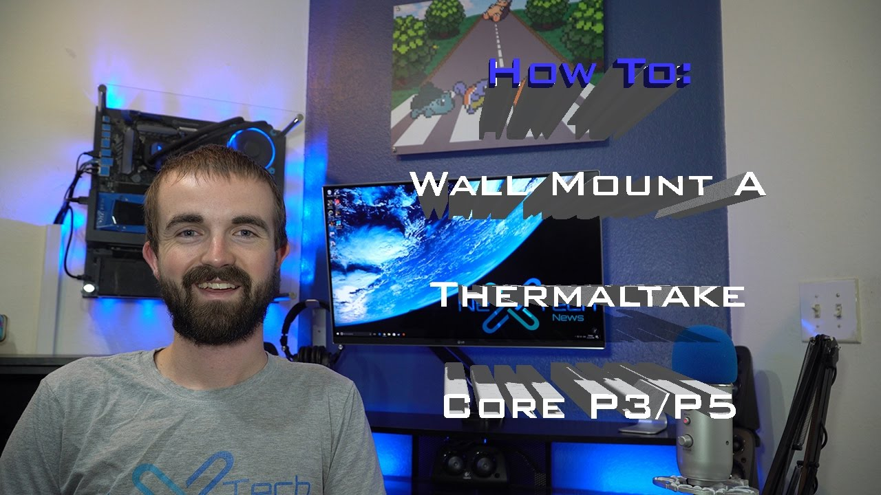 How To Wall Mount A Thermaltake Core P3 P5 Youtube