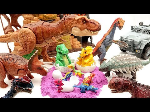 Jurassic World 2 Dinosaurs Eggs Hatching~ 공룡메카드 Dinosaur Toys For Kids~ 공룡알 부화