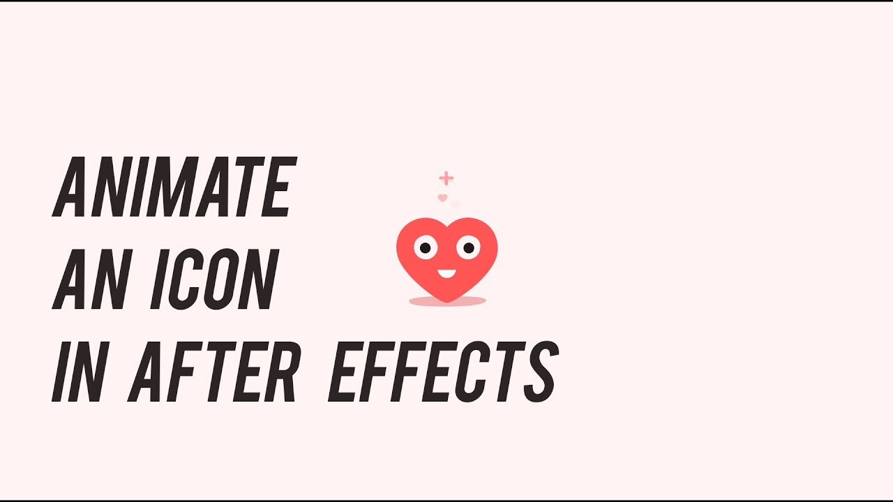 Animating an icon in after effects (English)