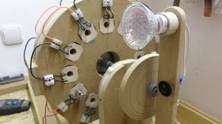 Single Phase Generator_Update 5 - Magnets on Alloy 50 cores ends & way better output results...