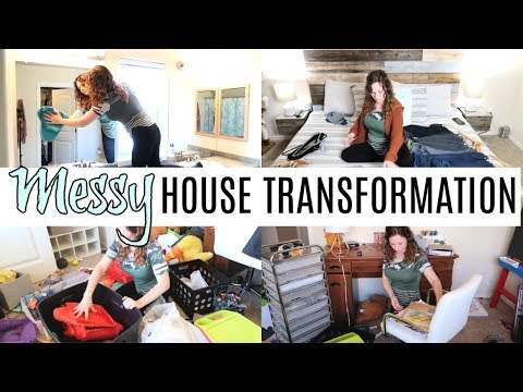 MESSY HOUSE TRANSFORMATION | CLEAN & DECLUTTER | EXTREME CLEAN WITH ME | SAHM