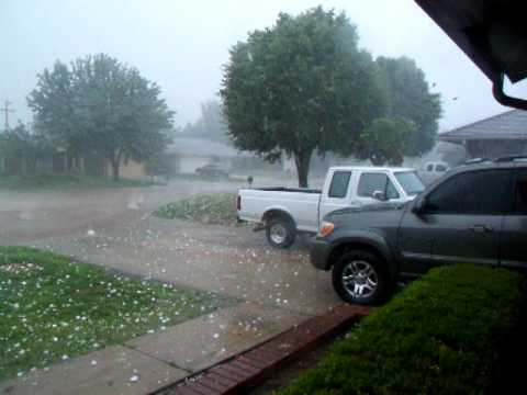Hail at our house in Oklahoma City