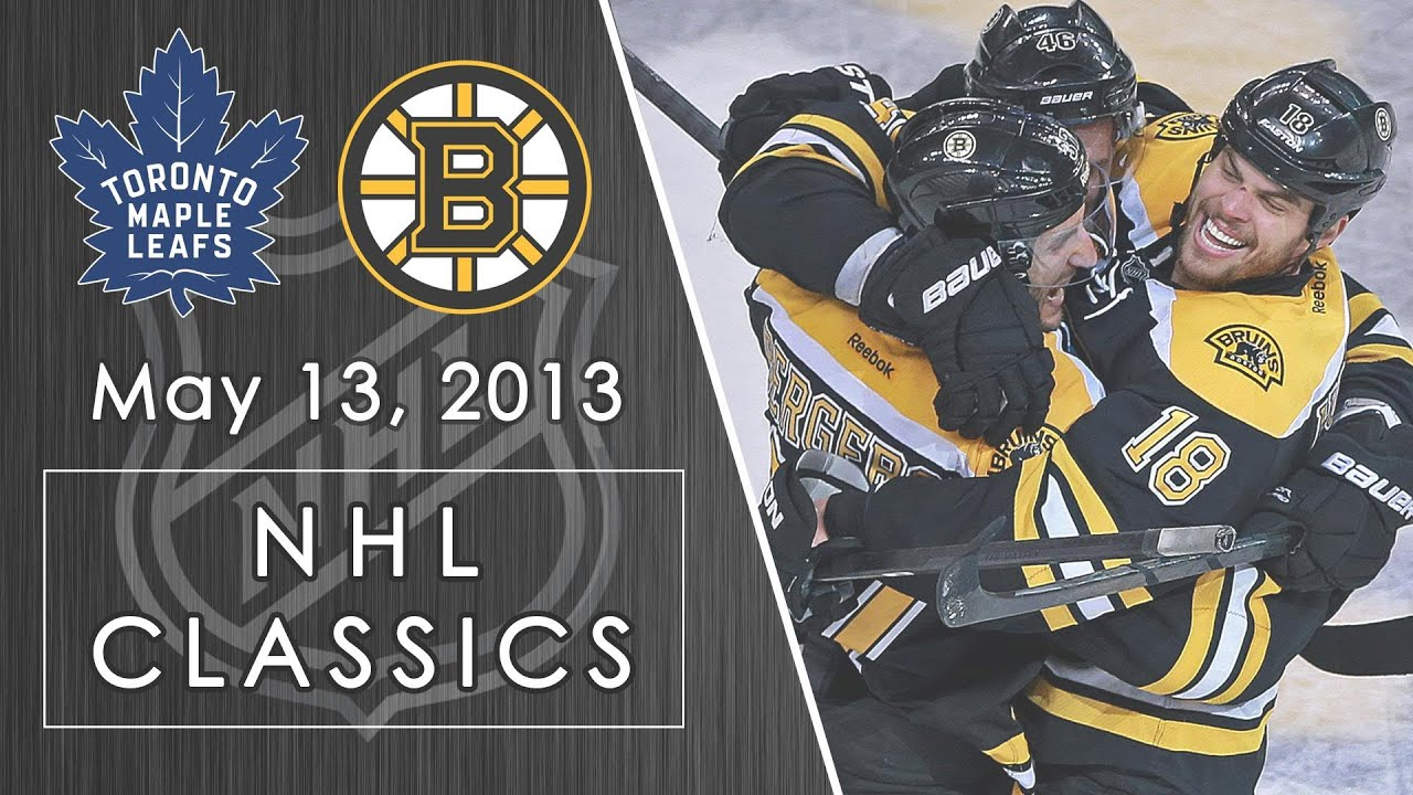 Nhl Classics Bruins Use A Massive Rally To Move Past Maple Leafs In Game 7 5 13 2013 Nbc Sports Youtube