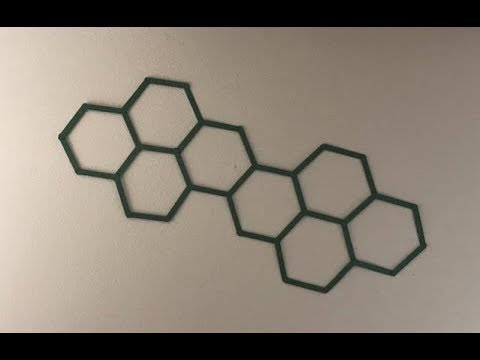 Hexagon Popsicle Stick Wall Hanging Art - DIY Craft & Hexagon Popsicle Stick Wall Hanging Art - DIY Craft - YouTube