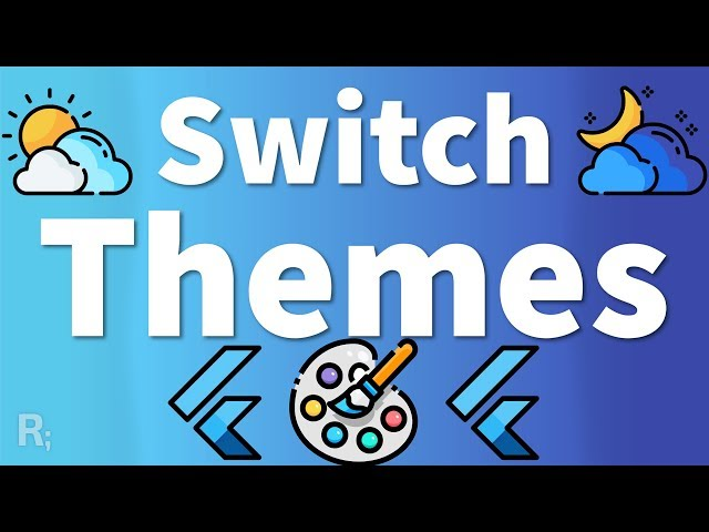 Switch Themes with Flutter Bloc - Dynamic Theming Tutorial (Dark & Light Theme)