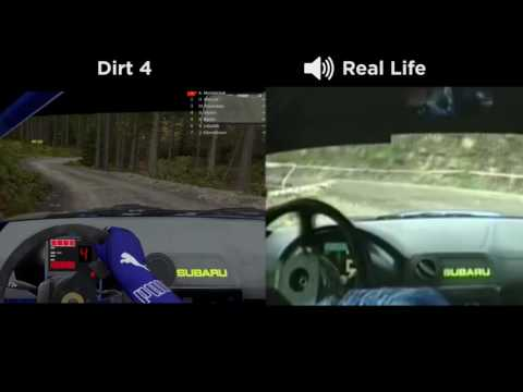 DiRT 4 vs REAL LIFE [Comparison]