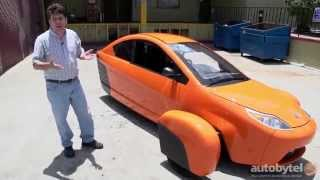 Elio Motors P5 Prototype Test Drive Video Review - 84 HWY MPG Car