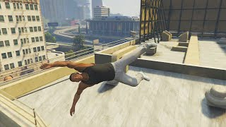 GTA 5 PARKOUR STUNTS, SPIDER MAN PARKOUR CHALLENGE & FUNNY MOMENTS #2 (Gta 5 Free Running)