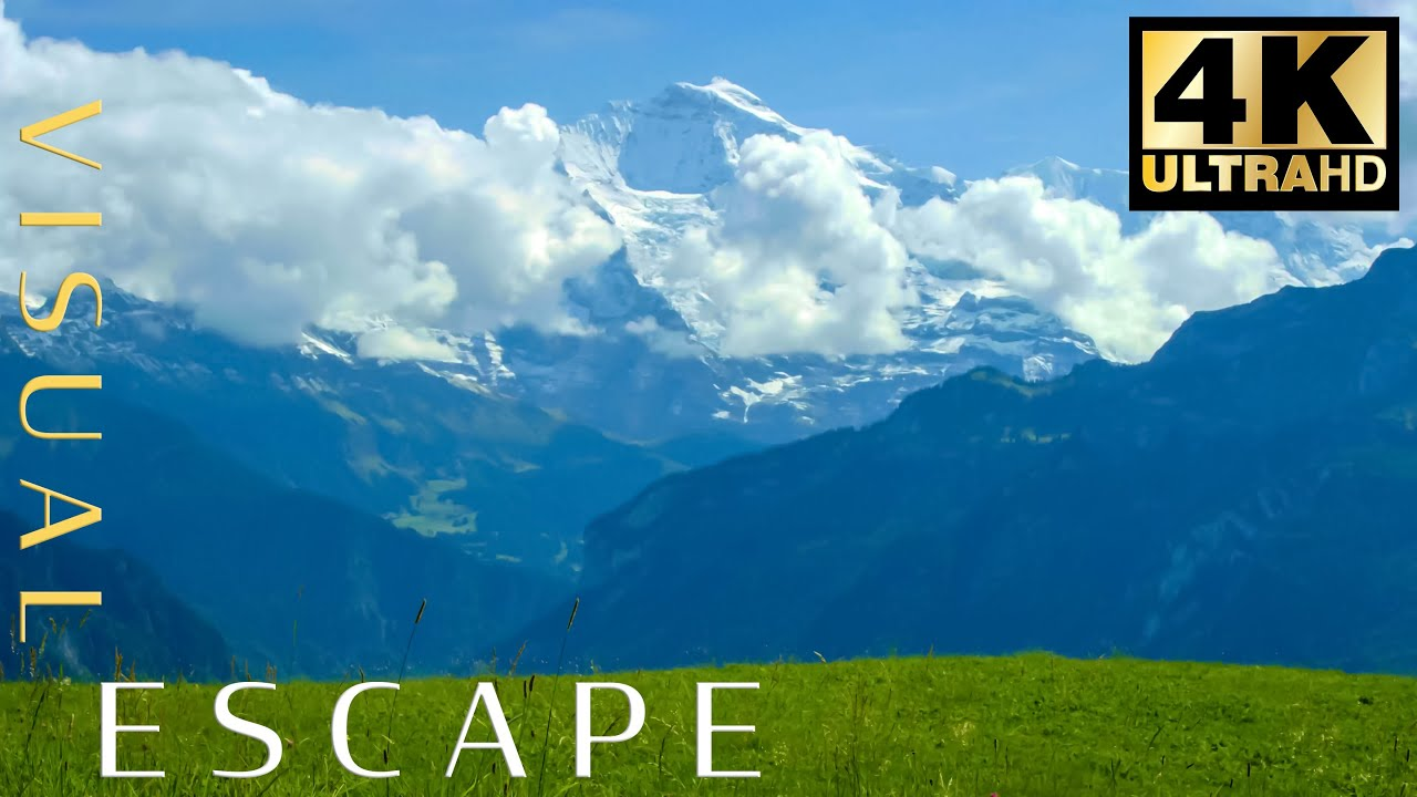 7 hrs Relaxing Mountain Sounds to Fall Asleep Faster, Beat Insomnia, Nature, Relaxation - Swiss Alps