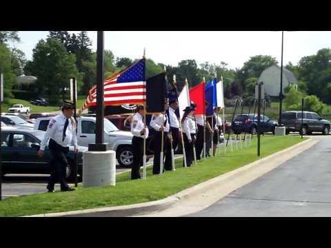 Davisburg Elementary School Flag Dedication Ceremony, June 4, 2010