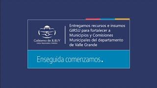 EN VIVO. Valle Grande: Entrega de recursos e insumos Girsu