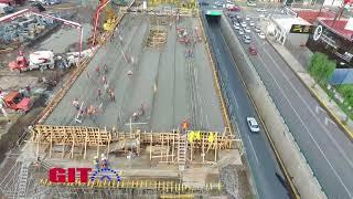 Construcción de la estación METEPEC Tren inter urbano Toluca México