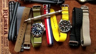 How to change the look of the watch with different straps NATO Edition