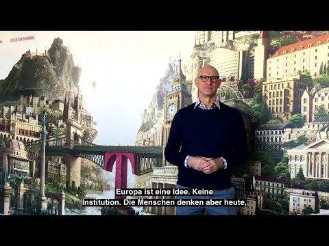 """Social Media Post: Tim Höttges über die Idee """"Europa"""""""
