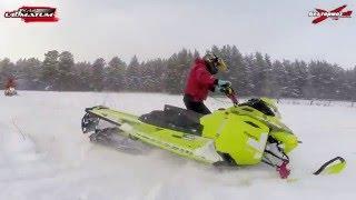 Школа горного вождения снегохода 1 группа февраль 2016 бундокинг, контрруление, траверс, Ванч-Ванч