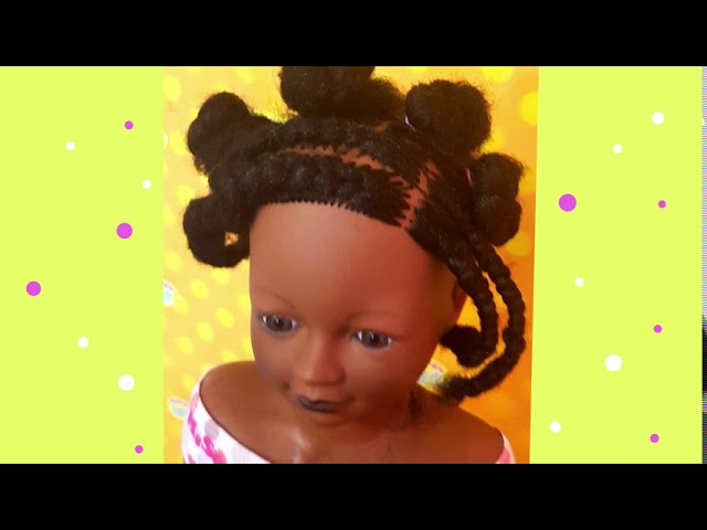 Afro Styling Doll with 19 Toy Salon Accessories