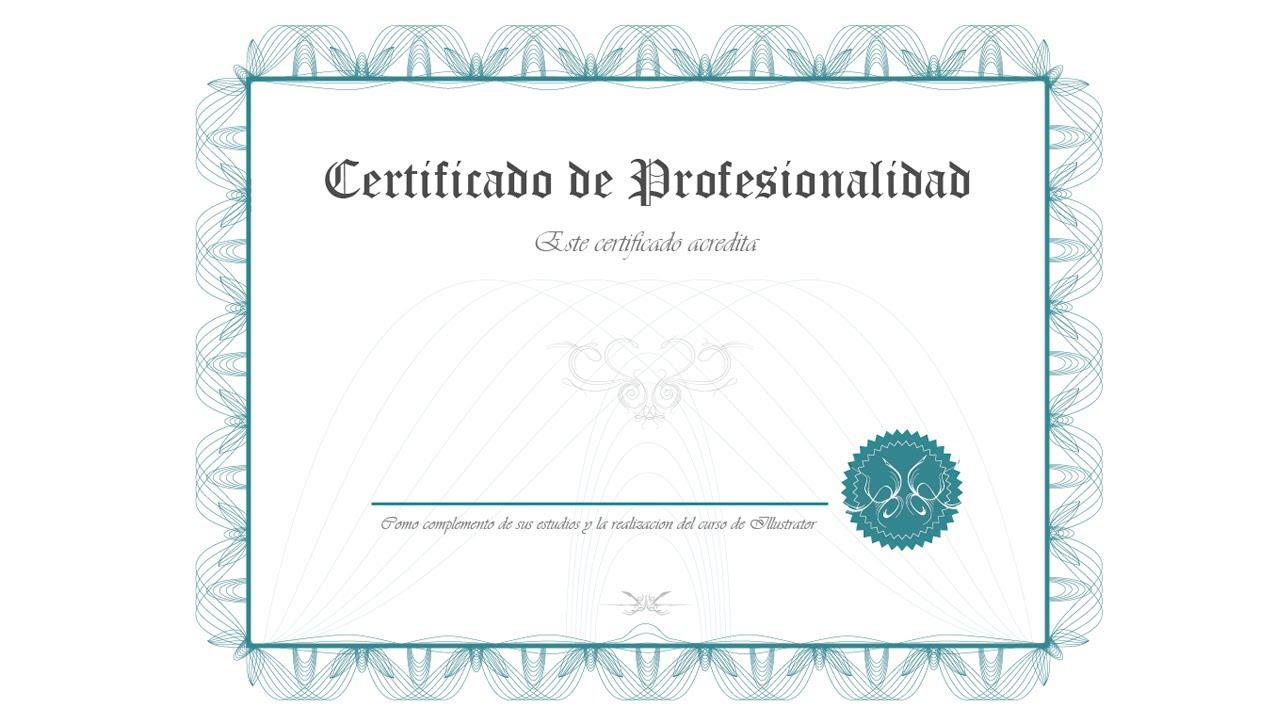 Illustrator 143 Filigranas y decoraciones para certificado - YouTube
