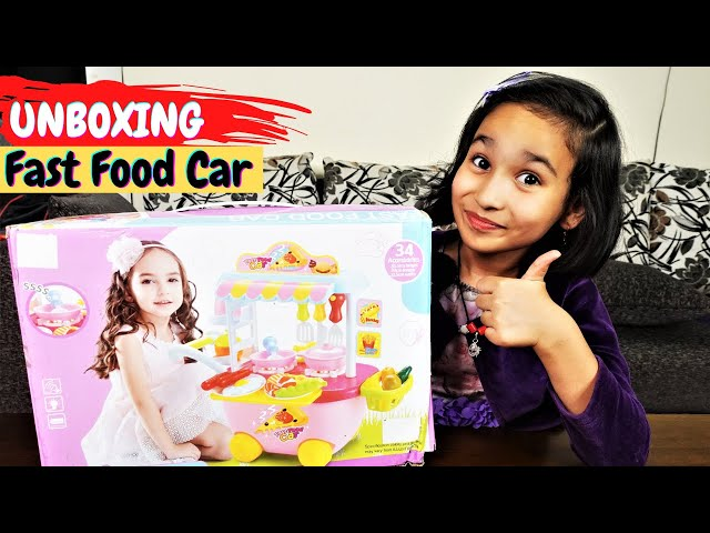 Fast Food Truck Kitchen Pretend Play Set  UNBOXING / Kitchen set /  #LearnWithPari
