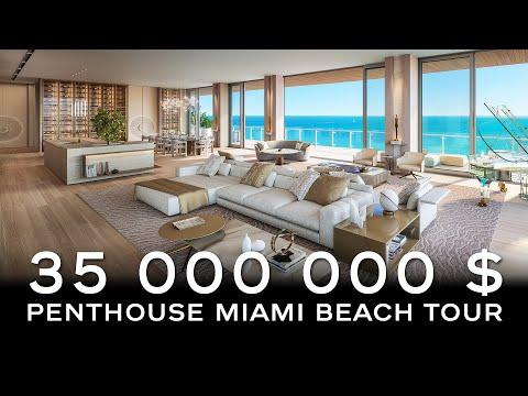 57 Ocean Miami Beach Tour : Penthouse | Condo Ultra Luxueux Face Océan | 1395 m2 | à Vendre
