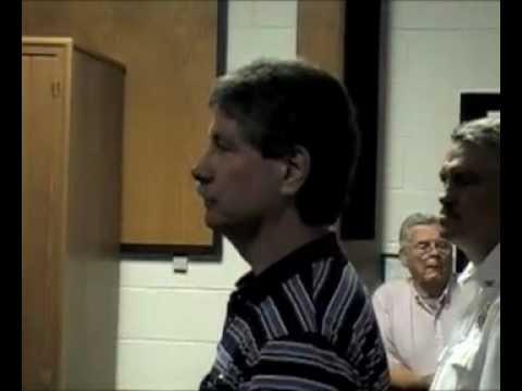Fairfield, Virginia citizen Greg Moore addresses the Buena Vista, Va. city council