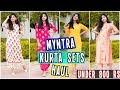 Myntra KURTI SETS Haul (6 Sets)| Under ₹800 | Casual & Party-wear Kurti Sets