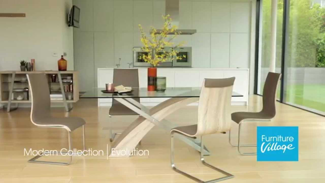 Glass Dining Table And Chairs Glass Dining Tables Sets Evolution Furniture Furniture Village