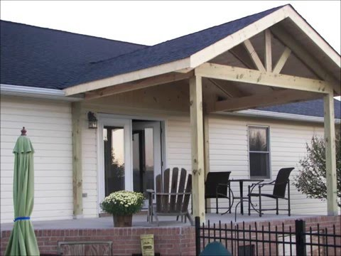 Back porch addition youtube for Hip roof porch addition