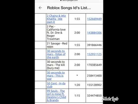 roblox codes music