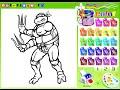Ninja Turtles Cartoon Game - Ninja Turtles Coloring Games