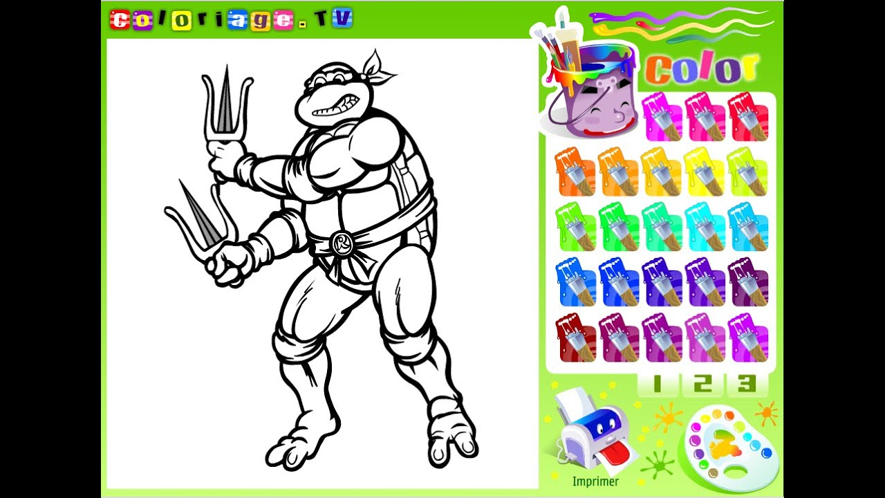 Ninja Turtles Coloring Pages For Kids