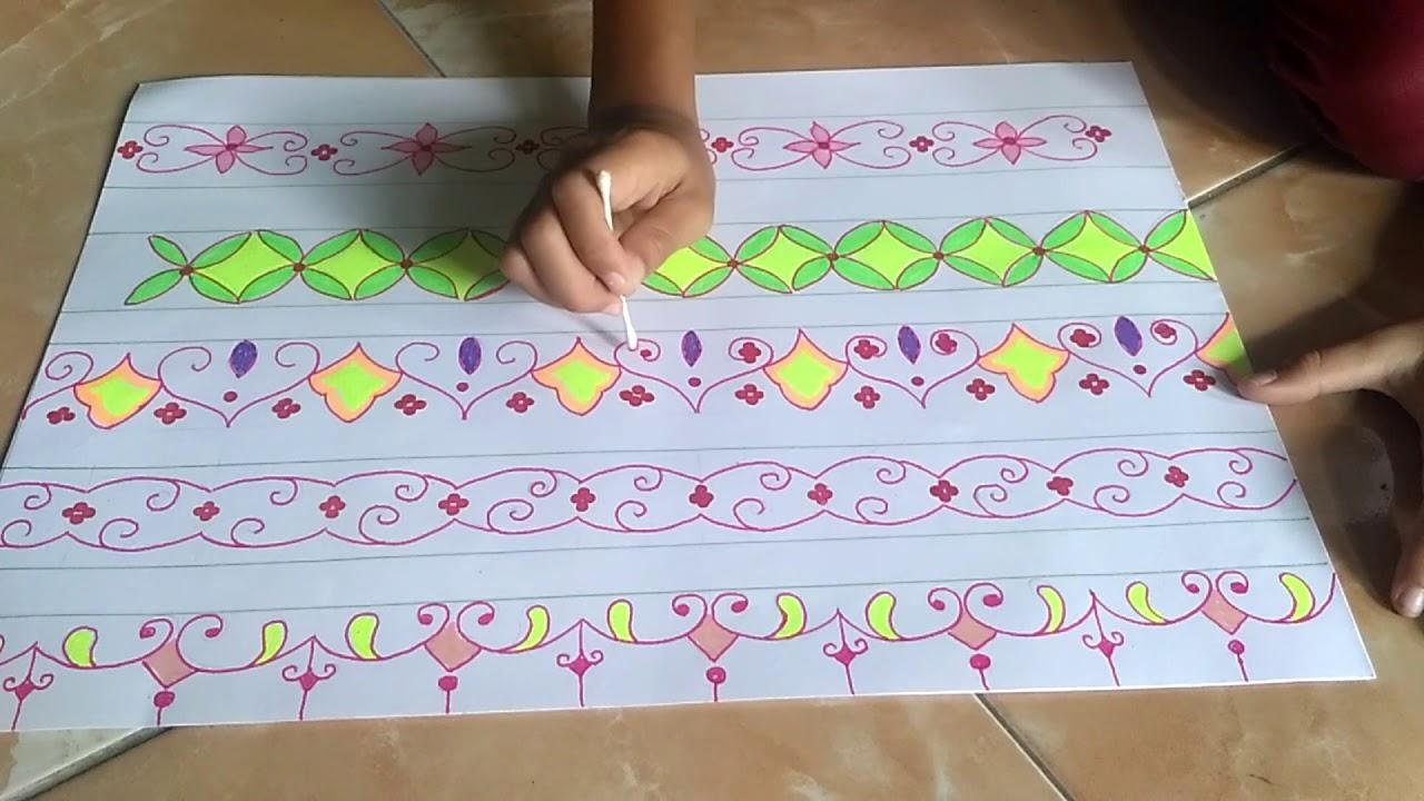 Cara Membuat Hiasan Kaligrafi Untuk Anak Anak Part 4 Youtube