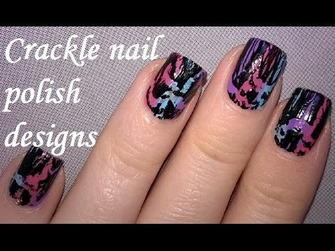 Crackle Nail Polish Designs Easy And Cute Nails For Beginners