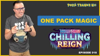 Pokémon Sword & Shield Chilling Reign One Pack Magic or Not, Episode 18 #Shorts