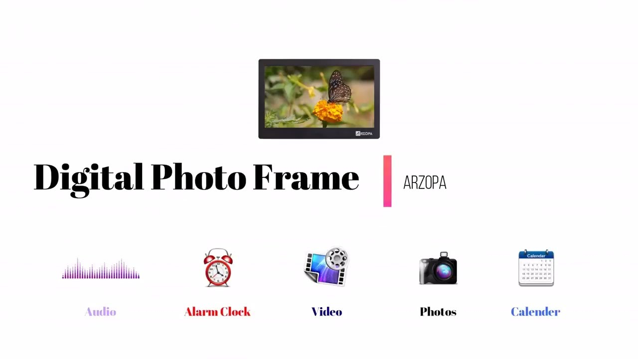 Amazing Digital Photo Frame Unboxing & Demonstration - Arzopa - YouTube