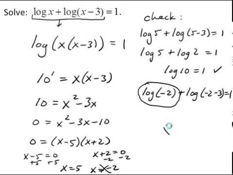 Solve Logarithmic Equations by Converting to Exponential Form ...