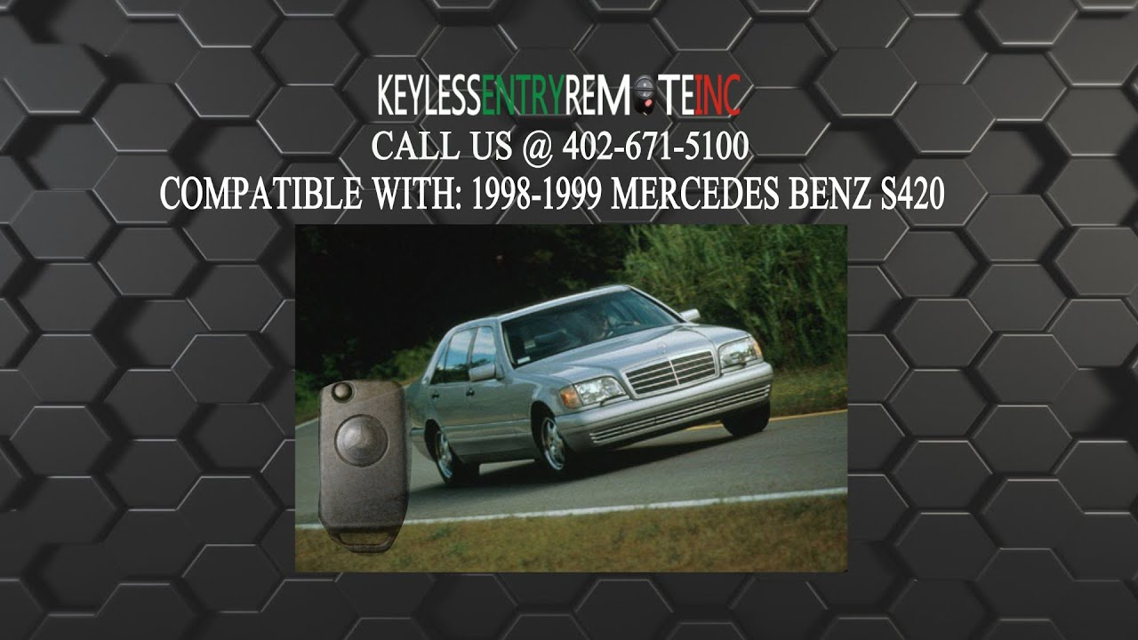 How To Replace Mercedes Benz S420 Key Fob Battery 1998 ...