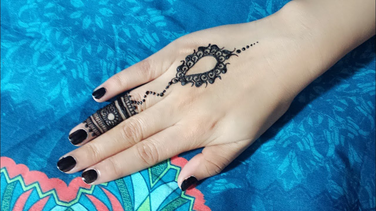 Why Does My Henna Tattoo Look Black: DIY Mehendi Design For Fingers Tutorial #5
