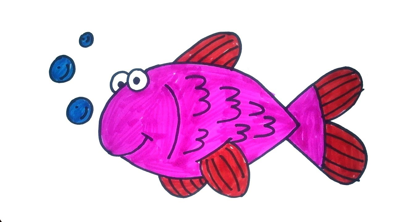 Fish drawing how to draw fish easy step by step drawing for kids