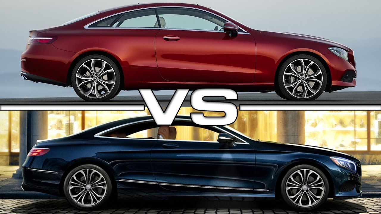 2018 mercedes e-class coupe vs 2016 mercedes s-class coupe - youtube